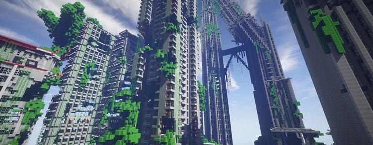 minecraft-green-skyscrapers