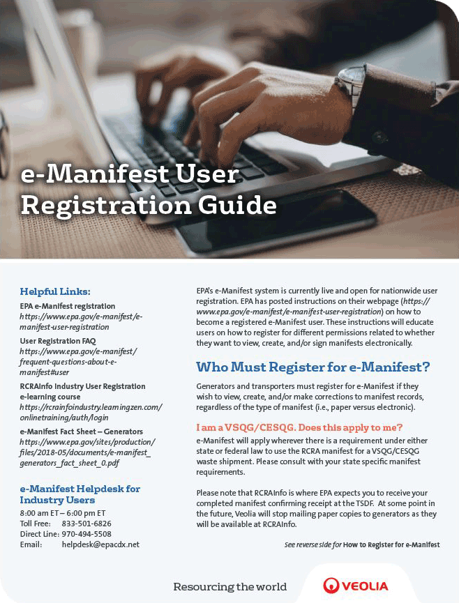 e-Manifest Registration User Guide