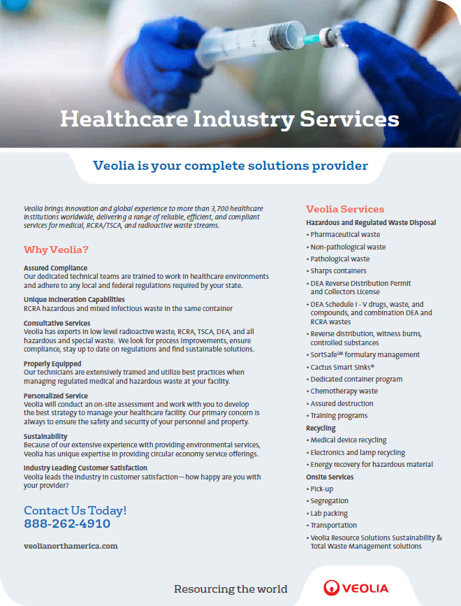 Healthcare industry services brochure
