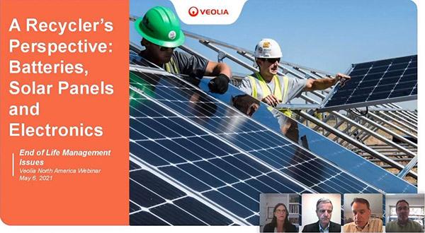 Batteries, solar panels, and electronics recycling webinar